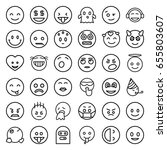 smiley icons set. set of 36...   Shutterstock .eps vector #655803607