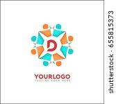 d letter social relationship...   Shutterstock .eps vector #655815373
