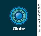 vector logo globe | Shutterstock .eps vector #655823023