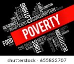 poverty word cloud collage ... | Shutterstock .eps vector #655832707