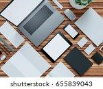computer  laptop  digital... | Shutterstock . vector #655839043