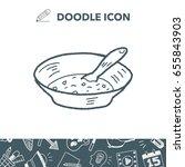 soup doodle | Shutterstock .eps vector #655843903