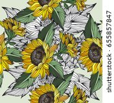 Flower Vector Pattern Sunflower