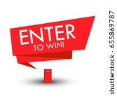 enter to win contest label... | Shutterstock .eps vector #655869787
