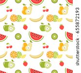 seamless pattern with fruits on ... | Shutterstock . vector #655872193