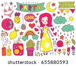 summer vector elements... | Shutterstock .eps vector #655880593