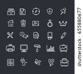 miscellaneous elements icon set | Shutterstock .eps vector #655880677