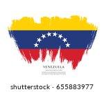 flag of venezuela  brush stroke ... | Shutterstock .eps vector #655883977
