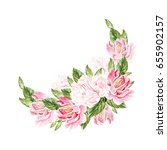 greeting card with peony ... | Shutterstock . vector #655902157