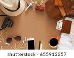 travel preparations  vacation...   Shutterstock . vector #655913257