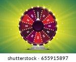 shining wheel of fortune.... | Shutterstock .eps vector #655915897
