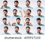 emotions faces pack of young... | Shutterstock . vector #655917133