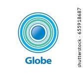 vector logo globe | Shutterstock .eps vector #655918687