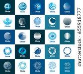 vector logo globe | Shutterstock .eps vector #655918777