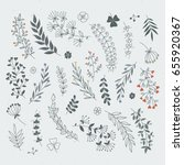 decorative floral elements for... | Shutterstock .eps vector #655920367