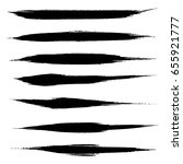 vector set of grunge brush... | Shutterstock .eps vector #655921777