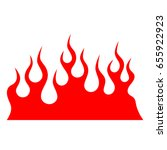 flame tattoo tribal vector... | Shutterstock .eps vector #655922923