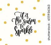 trendy hand lettering poster.... | Shutterstock .eps vector #655936363