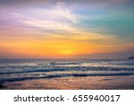 sunset background ocean.... | Shutterstock . vector #655940017