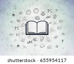 education concept  painted...   Shutterstock . vector #655954117