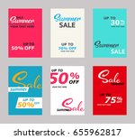 set of sale banners template... | Shutterstock .eps vector #655962817