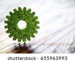 ecology technology concept. 3d... | Shutterstock . vector #655963993