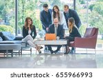 corporate business team and... | Shutterstock . vector #655966993