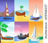 summer time vacation nature... | Shutterstock .eps vector #655968157