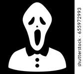 white horror interface toolbar... | Shutterstock .eps vector #655972993