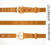 leather light brown belt... | Shutterstock .eps vector #655983727