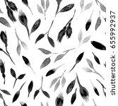 watercolor bud repeat pattern.... | Shutterstock . vector #655992937