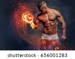 sexy shirtless muscular male in ... | Shutterstock . vector #656001283