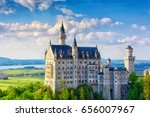 neuschwanstein castle in... | Shutterstock . vector #656007967