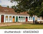 paraty  brazil   january 26 ... | Shutterstock . vector #656026063