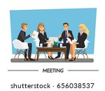 team planning and working ... | Shutterstock .eps vector #656038537
