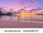 sunset at pereybere bay  a... | Shutterstock . vector #656048707