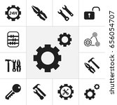 set of 12 editable tool icons.... | Shutterstock .eps vector #656054707
