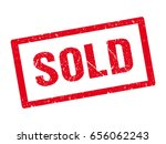 grunge sold rubber stamp.... | Shutterstock .eps vector #656062243