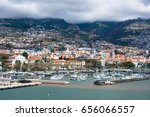 yacht port of funchal | Shutterstock . vector #656066557