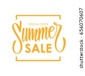 summer sale card template. hand ... | Shutterstock .eps vector #656070607