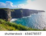 cliffs of moher  ireland  ... | Shutterstock . vector #656078557