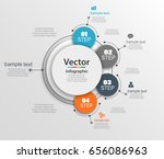 abstract infographics number... | Shutterstock .eps vector #656086963