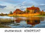malbork castle in poland ... | Shutterstock . vector #656095147