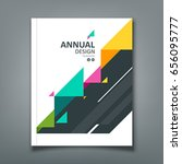 cover annual report colorful... | Shutterstock .eps vector #656095777