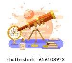 astronomy design retro | Shutterstock .eps vector #656108923