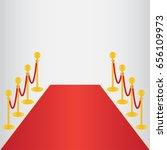red carpet  ceremonial vip... | Shutterstock .eps vector #656109973