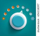 round climate control regulator....   Shutterstock .eps vector #656118397