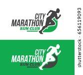 running man silhouette ... | Shutterstock .eps vector #656119093