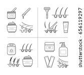 depilation techniques in... | Shutterstock . vector #656119297