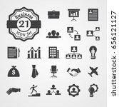 business icon set flat design... | Shutterstock .eps vector #656121127